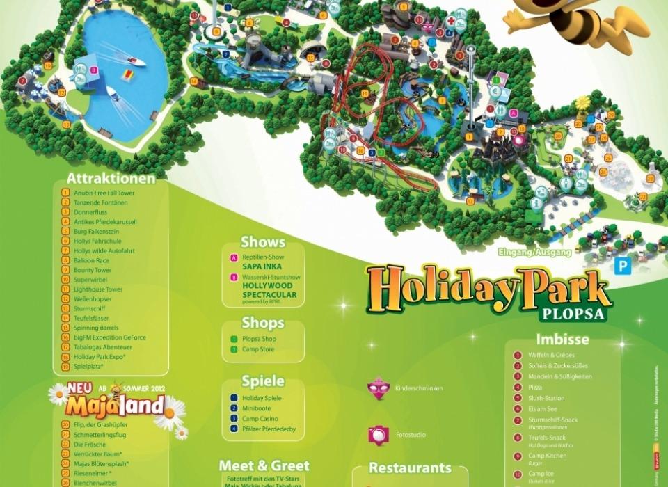 Развлекательный парк Holiday Park Plopsa