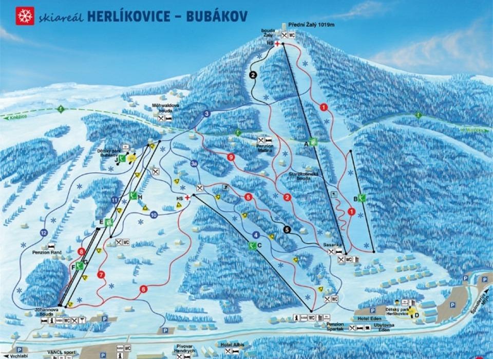 Лыжная база Herlíkovice - Bubákov