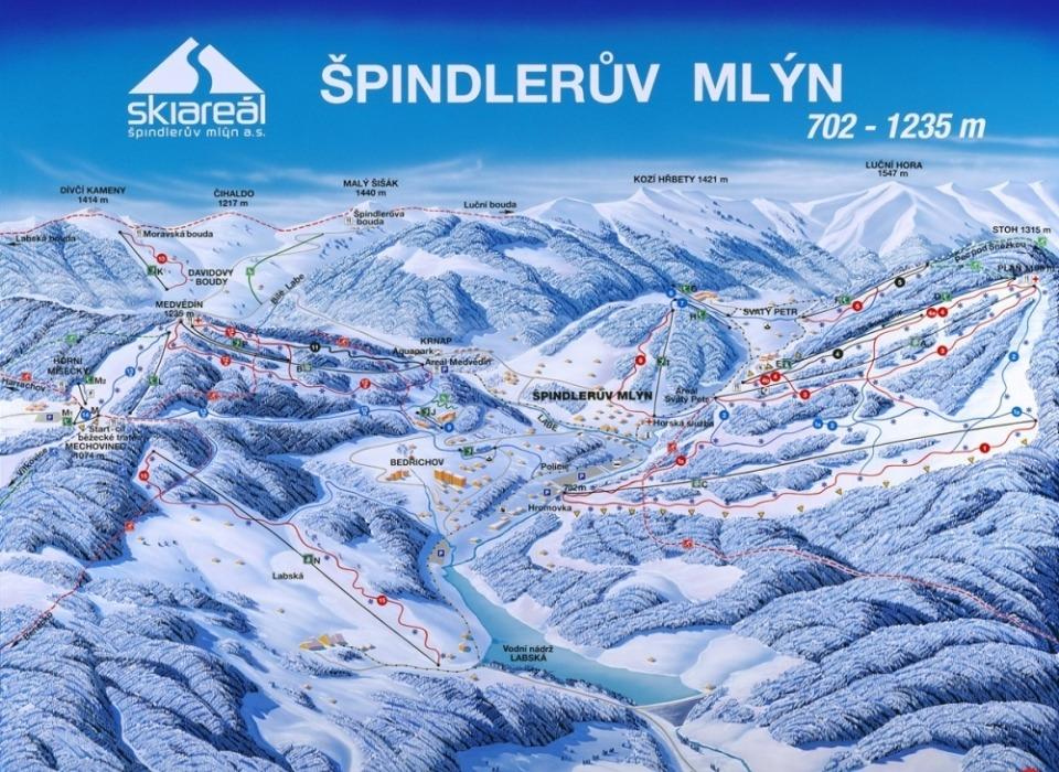 Špindlerův Mlýn - горнолыжная база