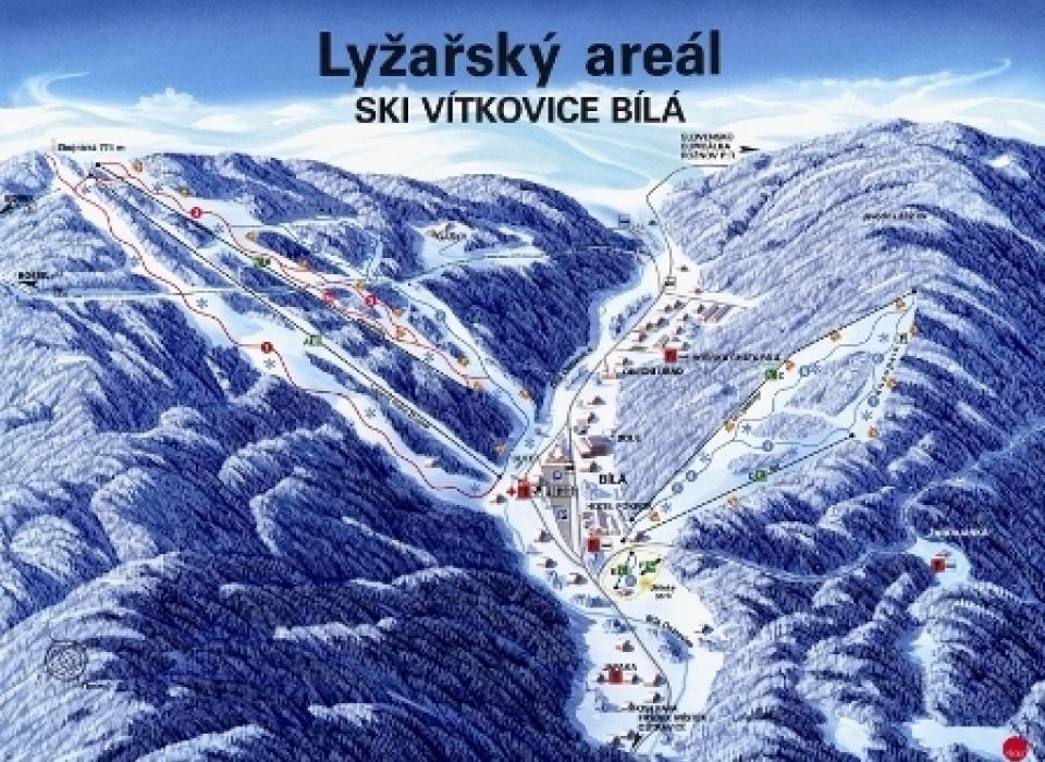 Лыжная база Bílá в Beskydech