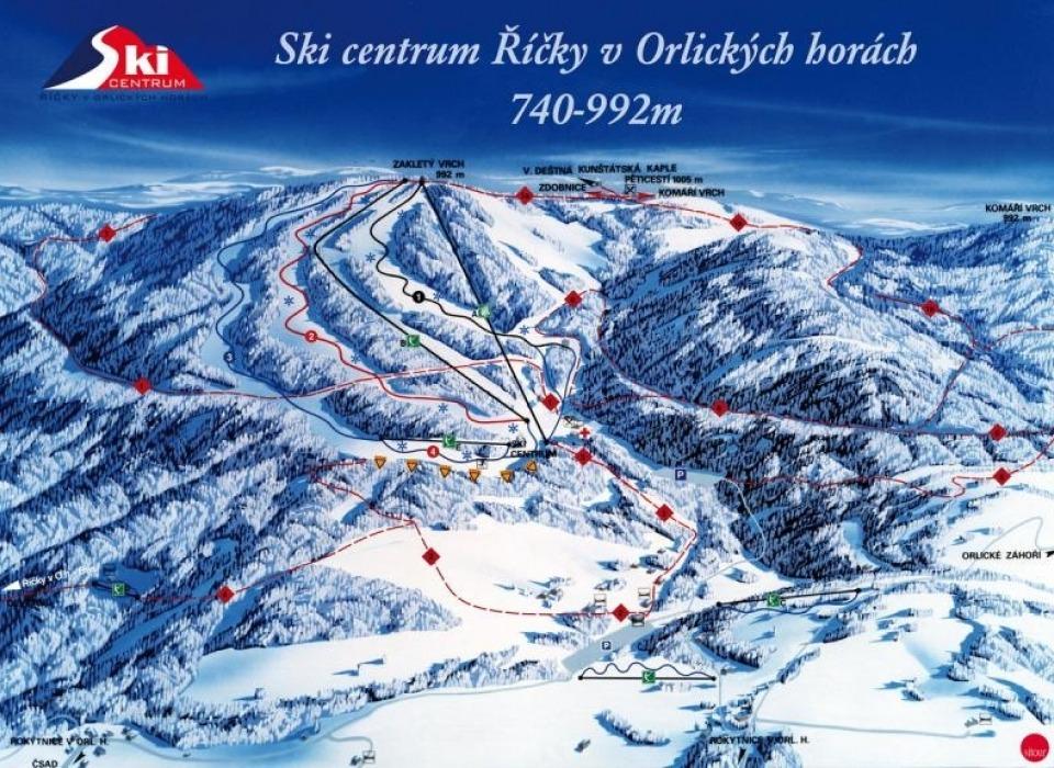 Říčky в Орлицких горах - лыжный центр